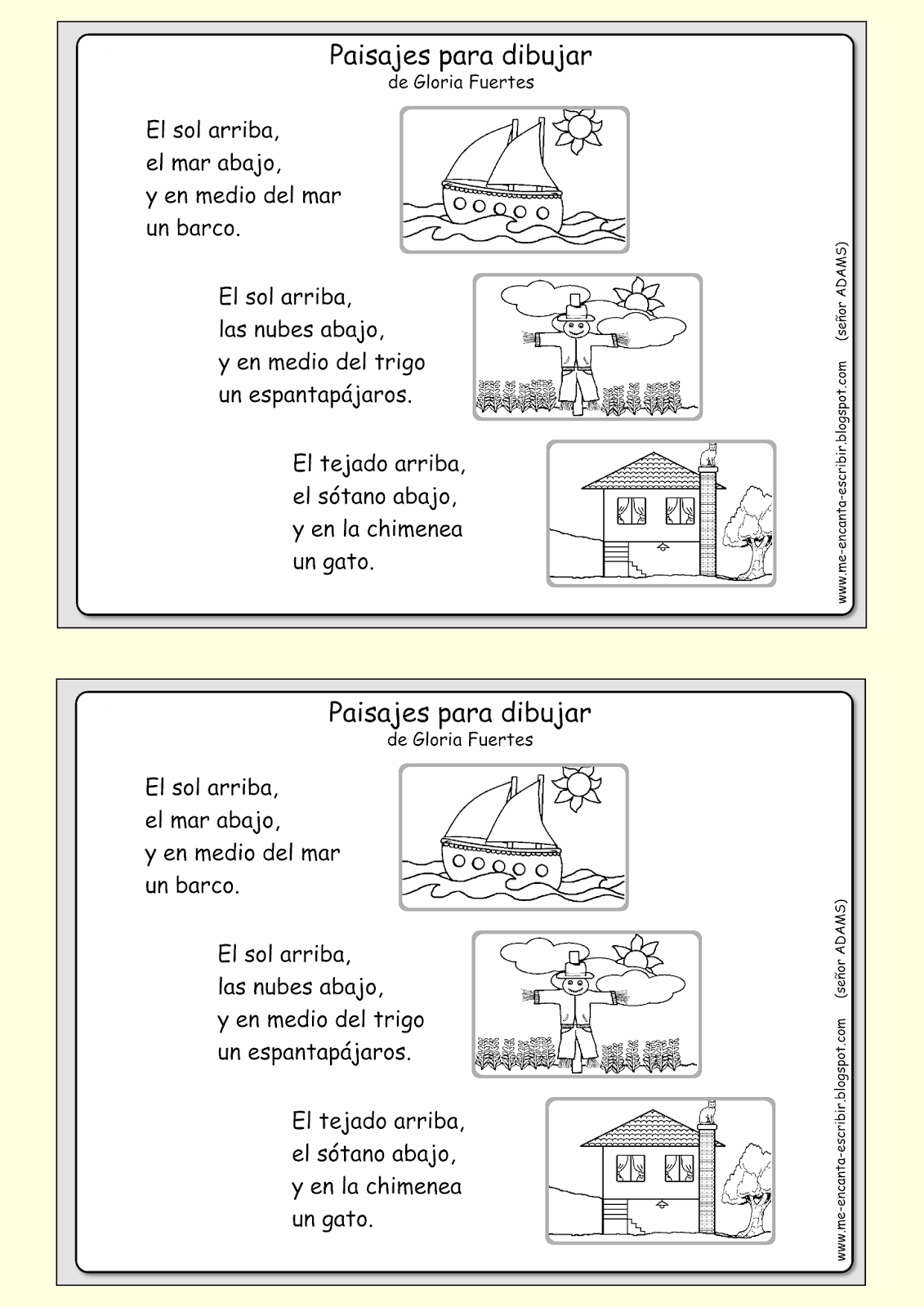 Me encanta escribir en español: preposiciones de lugar | Primero ...
