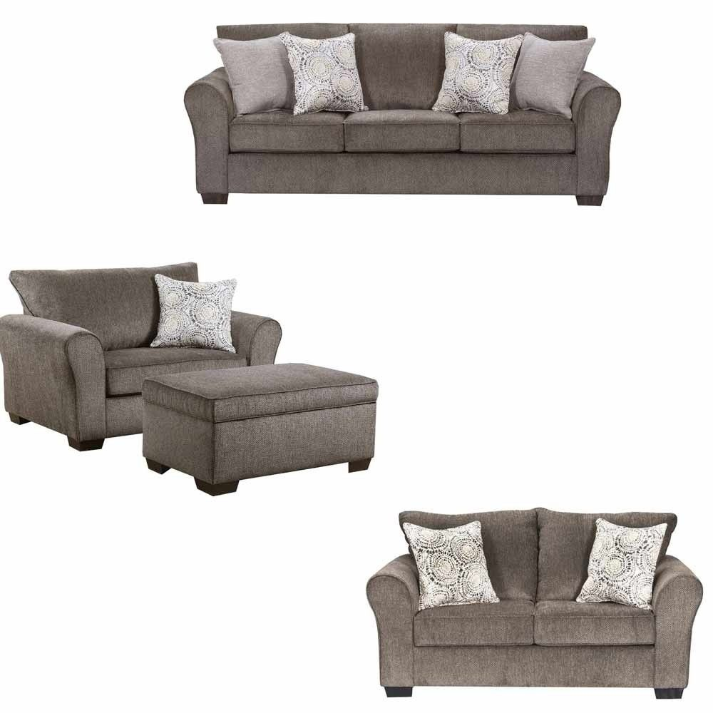 Simmons Upholstery - Harlow 4 Piece Living Room Set - 1657-03-02-015 ...