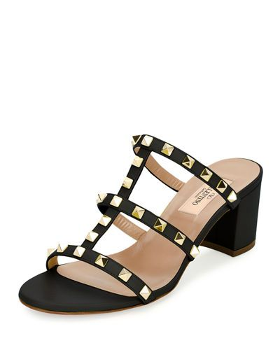 e1ab226693b9e VALENTINO Rockstud Caged 60Mm Slide Sandal. #valentino #shoes #sandals