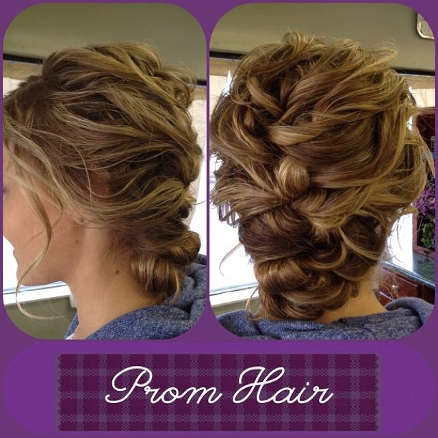 Beautiful Loose French Braid For Prom Or Weddings