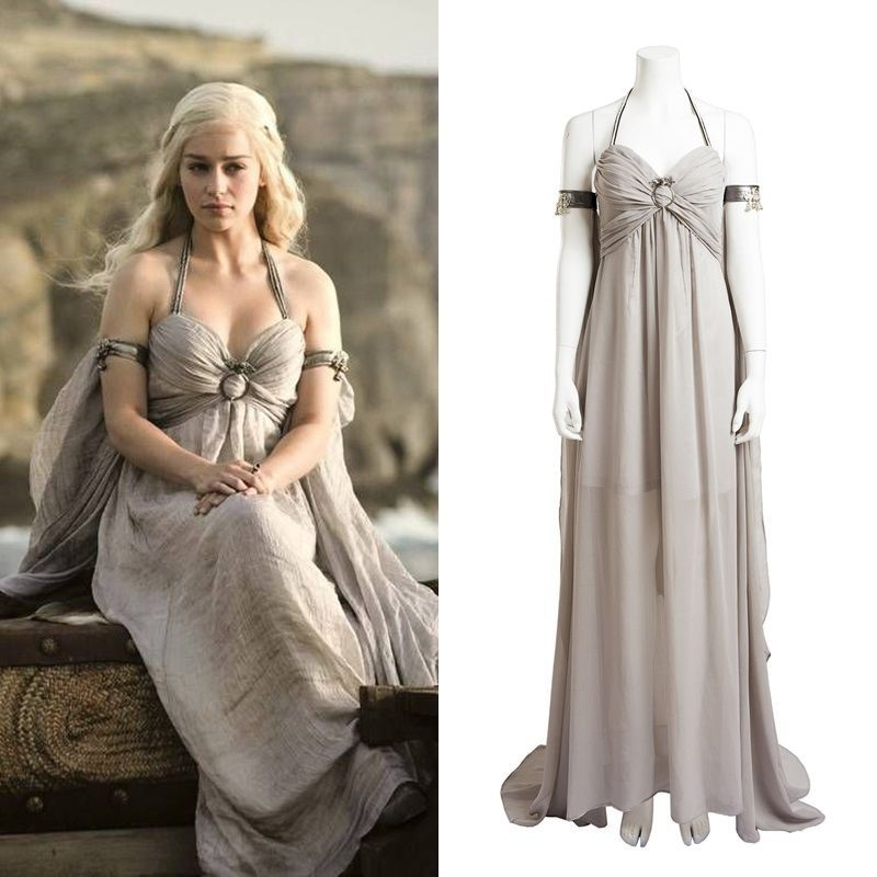 sc 1 st  Pinterest & Game of Thrones Daenerys Targaryen Gray Dress Cosplay Costume