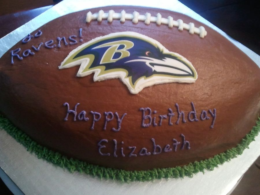 Incredible Baltimore Ravens Football Cake With Images Ravens Football Birthday Cards Printable Opercafe Filternl