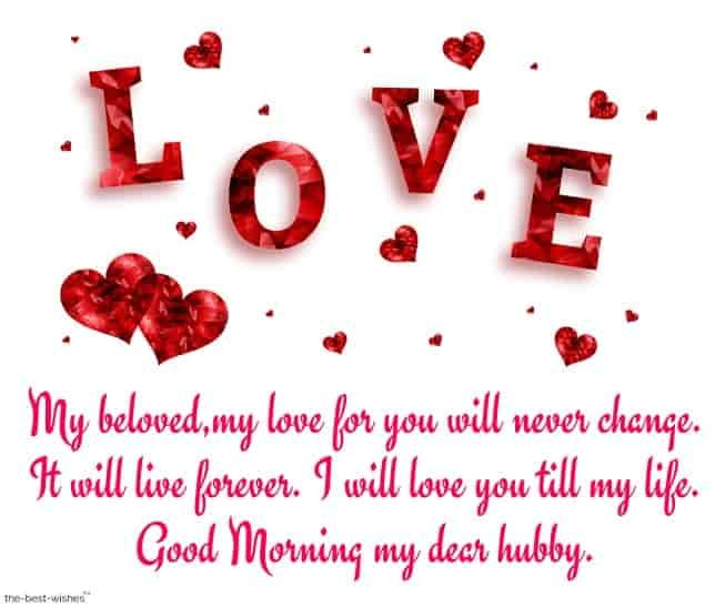 Romantic Good Morning Message For Husband Best Collection Love