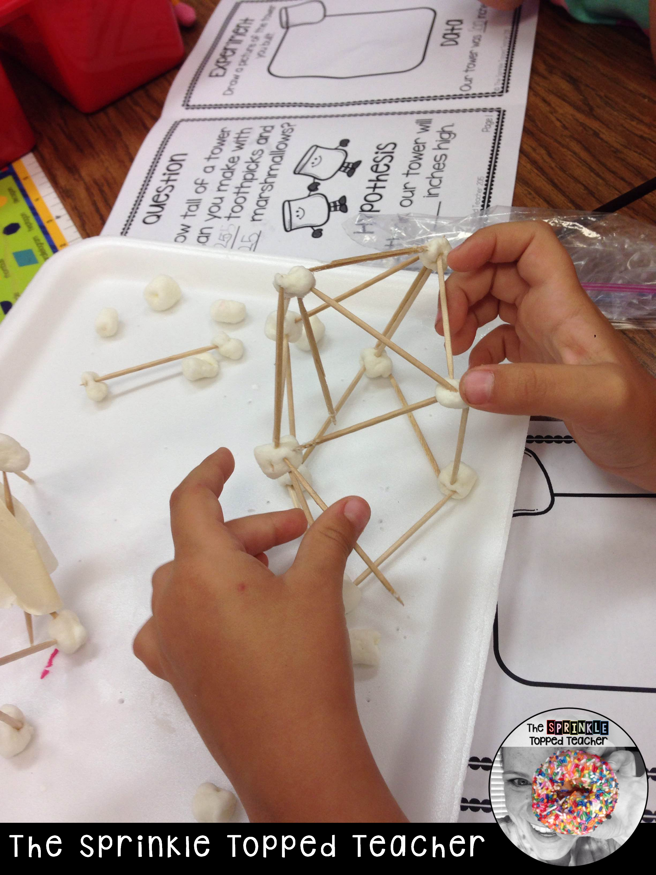 Marshmallow Toothpick Tower Science Experiment With The