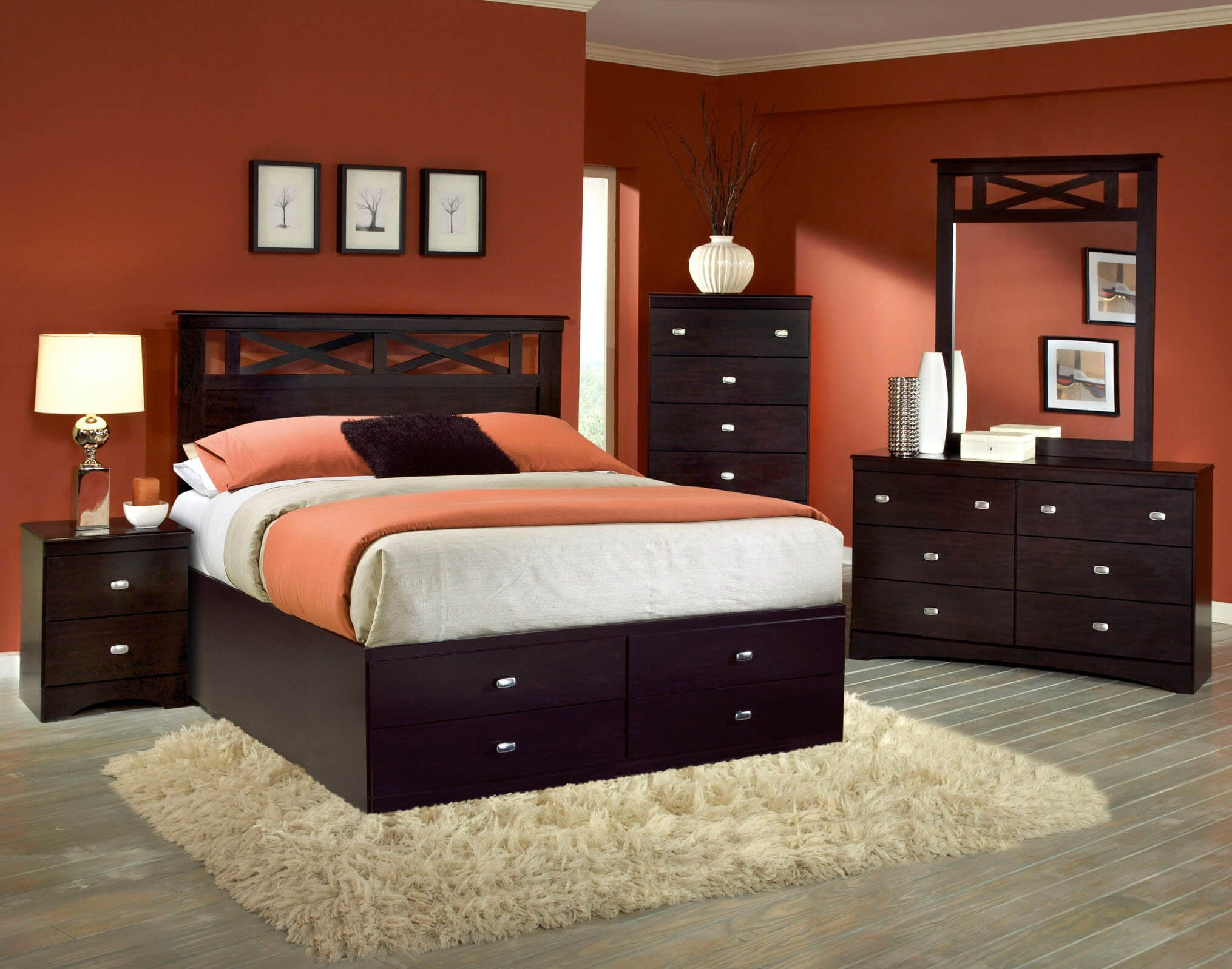 Kith Tyler 8 pc Set with Queen Storage Bed  Bedroom sets