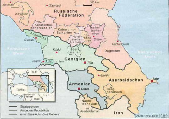 Russlands Kampfe Im Kaukasus Georgien Armenien Und Aserbaidschan