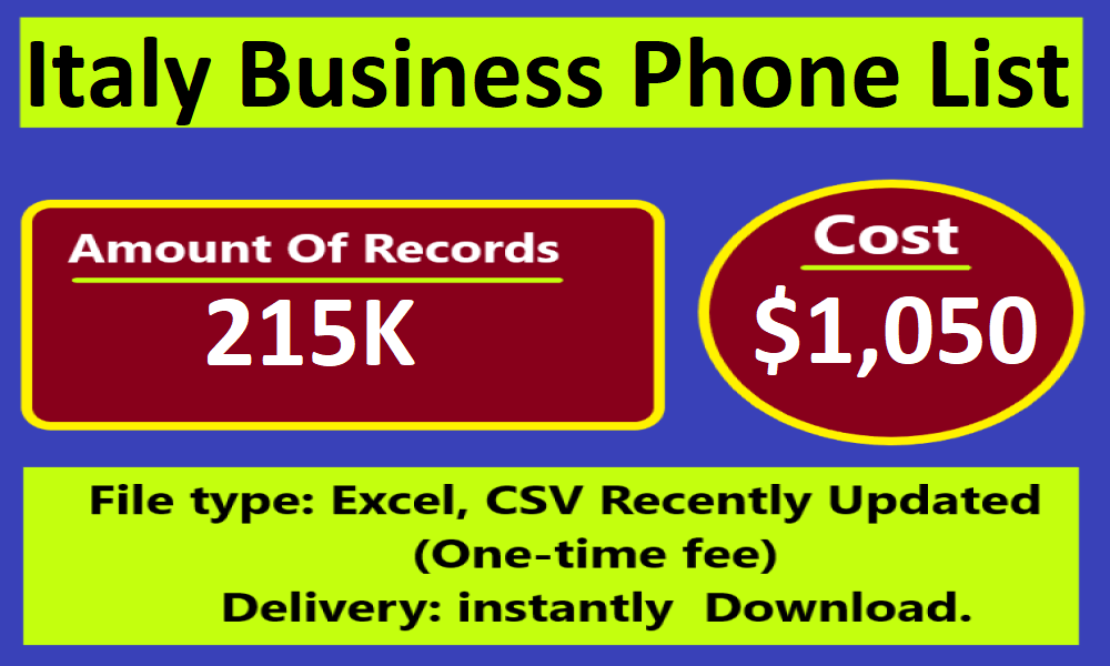 Italy Business Phone List In 2020 Dubai Business Singapore Business Online Business Marketing