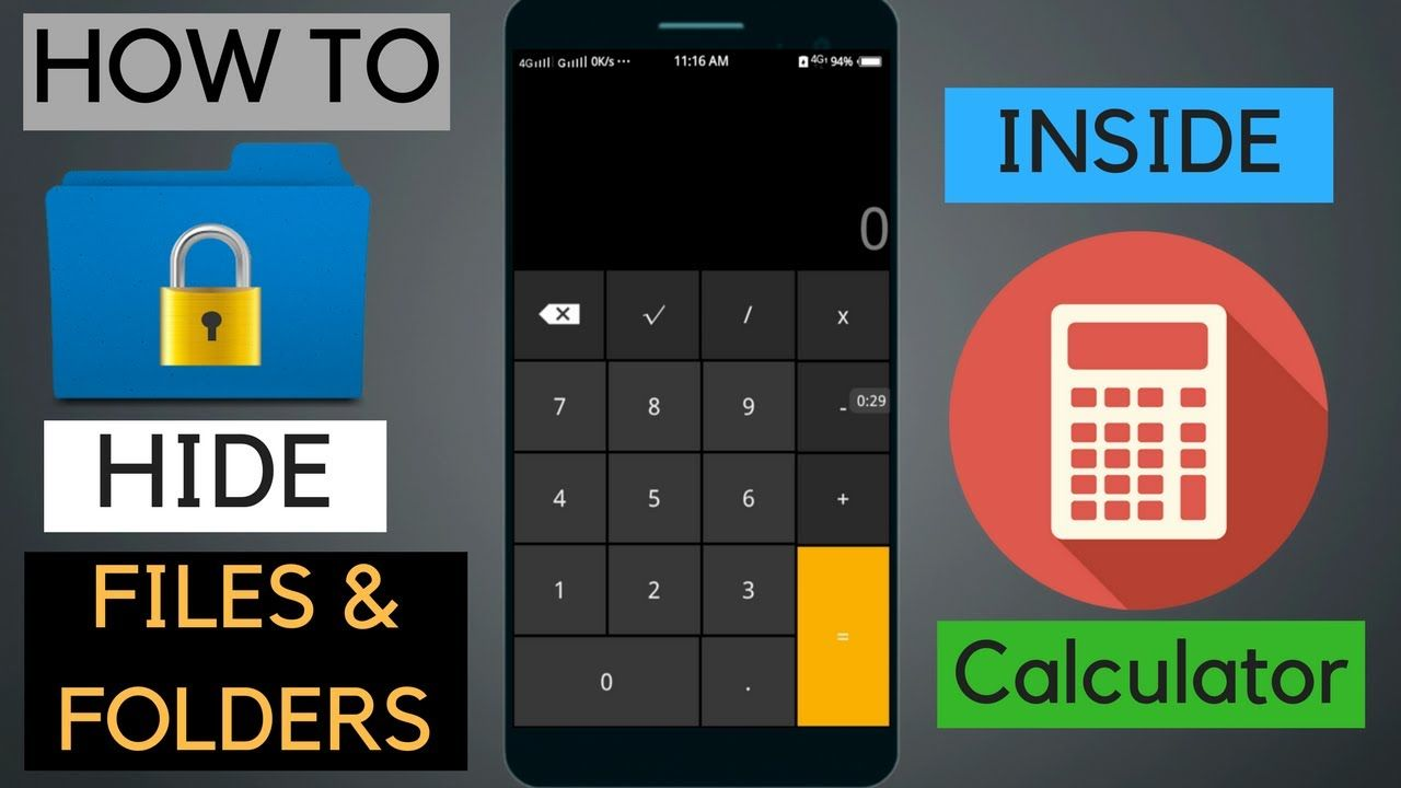 You Can Hide Secret Files And Folders Inside The Calculator On Android Smartphone This Can Be Done With Smart Hide Calculator Folders Hide Secret