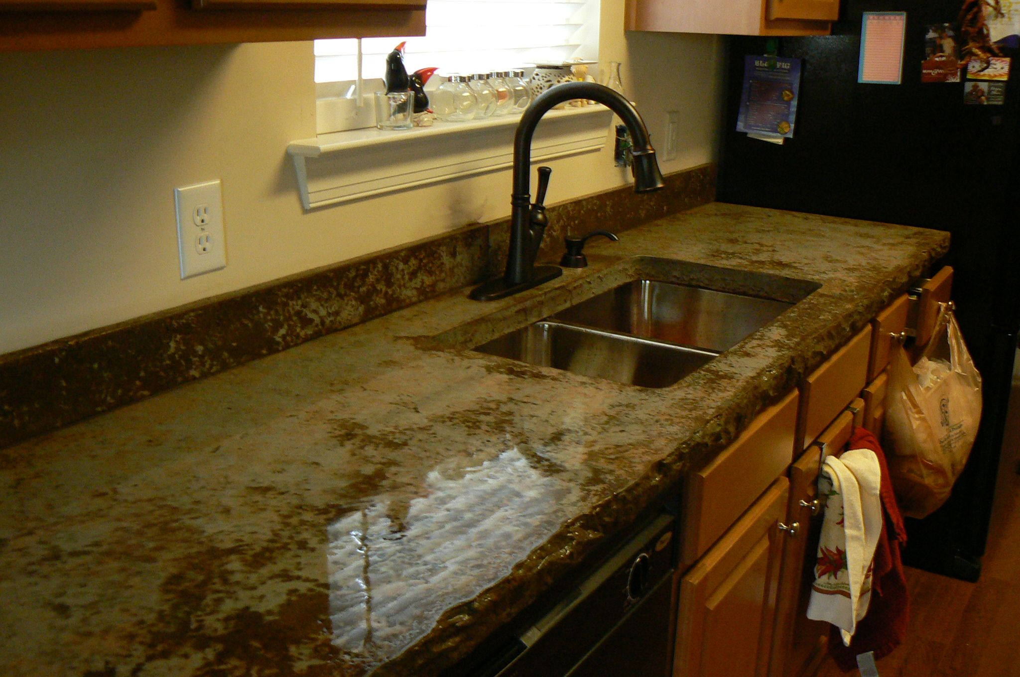 My New Concrete Countertops Installed By Jason Marois Creative