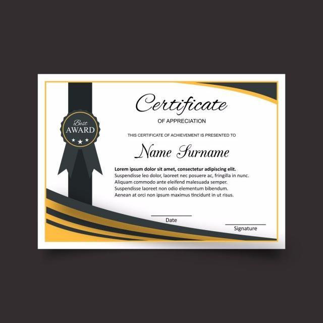 Plantilla de certificado con lujo y moderno diseño, diploma ...