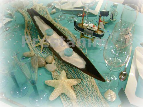 decoration de table ile mer