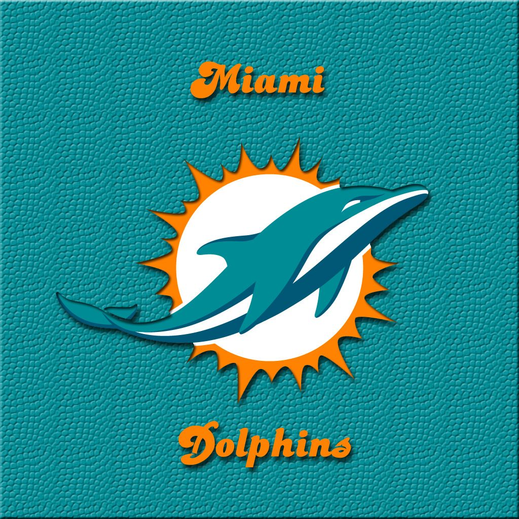 iPAD wallpaper: New Miami Dolphins official logo.