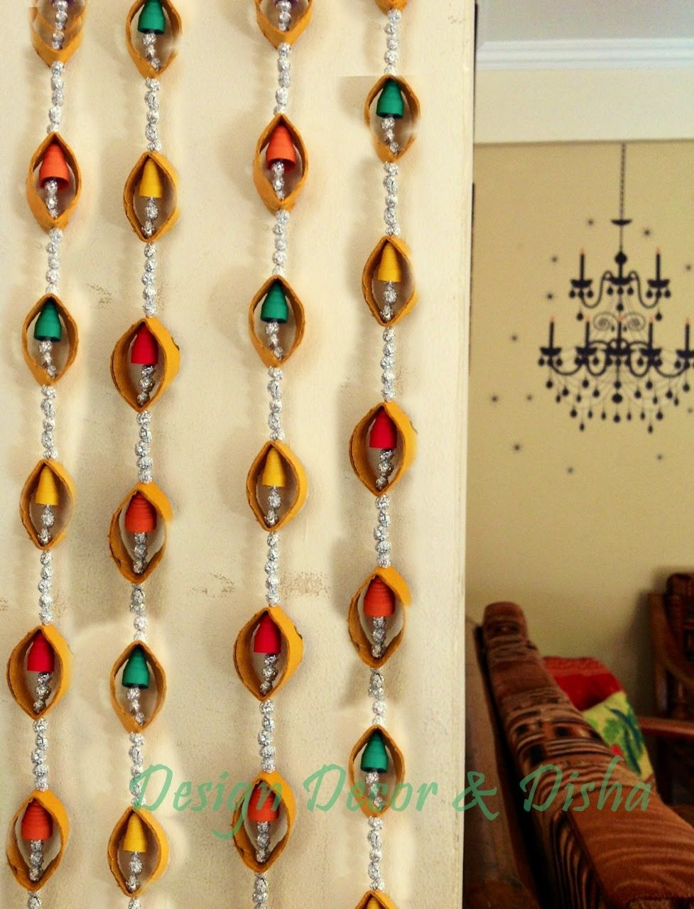 Diwali Craft Idea -Wall hanging | ege video | Pinterest | Diwali ...