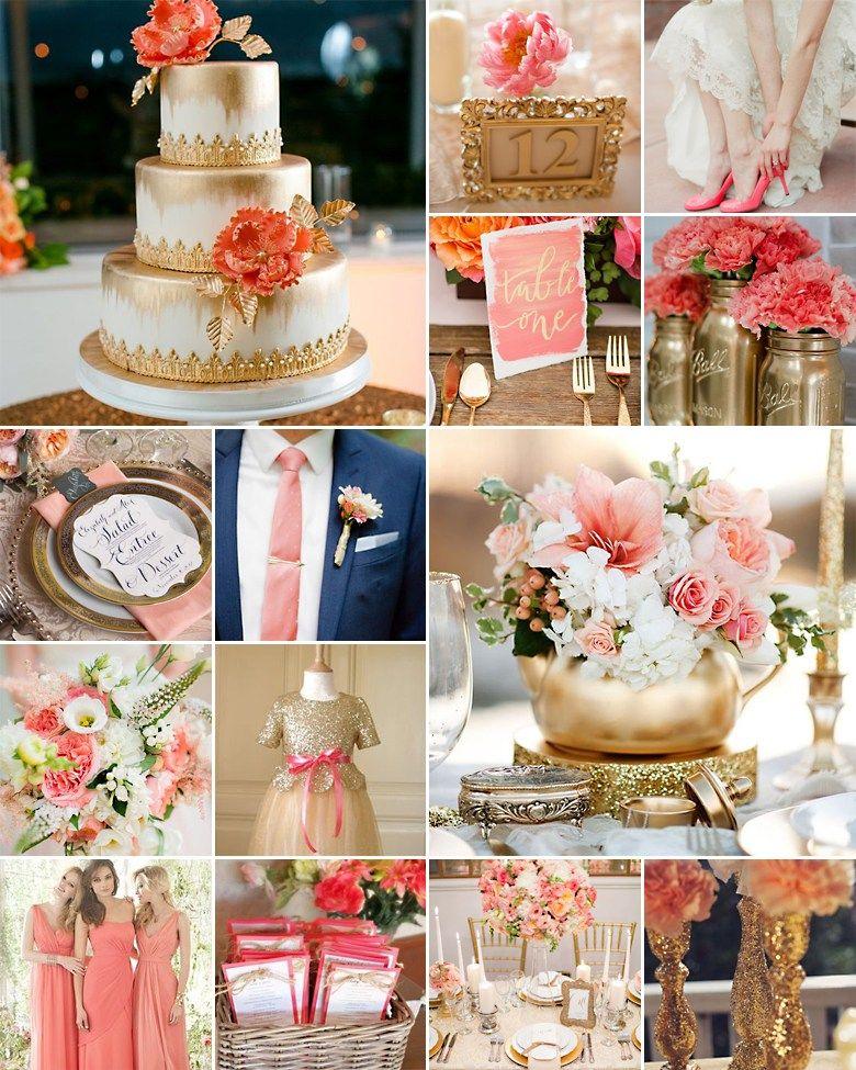 Blush and Gold Wedding Inspiration Blush, gold, Wedding