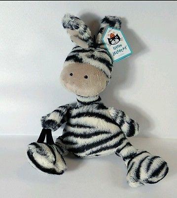 """Plush sale jellycat jelly cat boing zebra 10"""" baby soft"""
