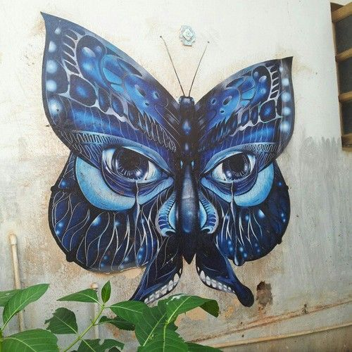 Spotted in Goa: Papillon Street Art