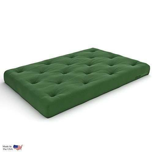 Premier Pocket Coil 10 Inch Queen Futon Mattress Hunter Green Twill Made In Usa Click Image To Review More Details This Is An Affiliate Link