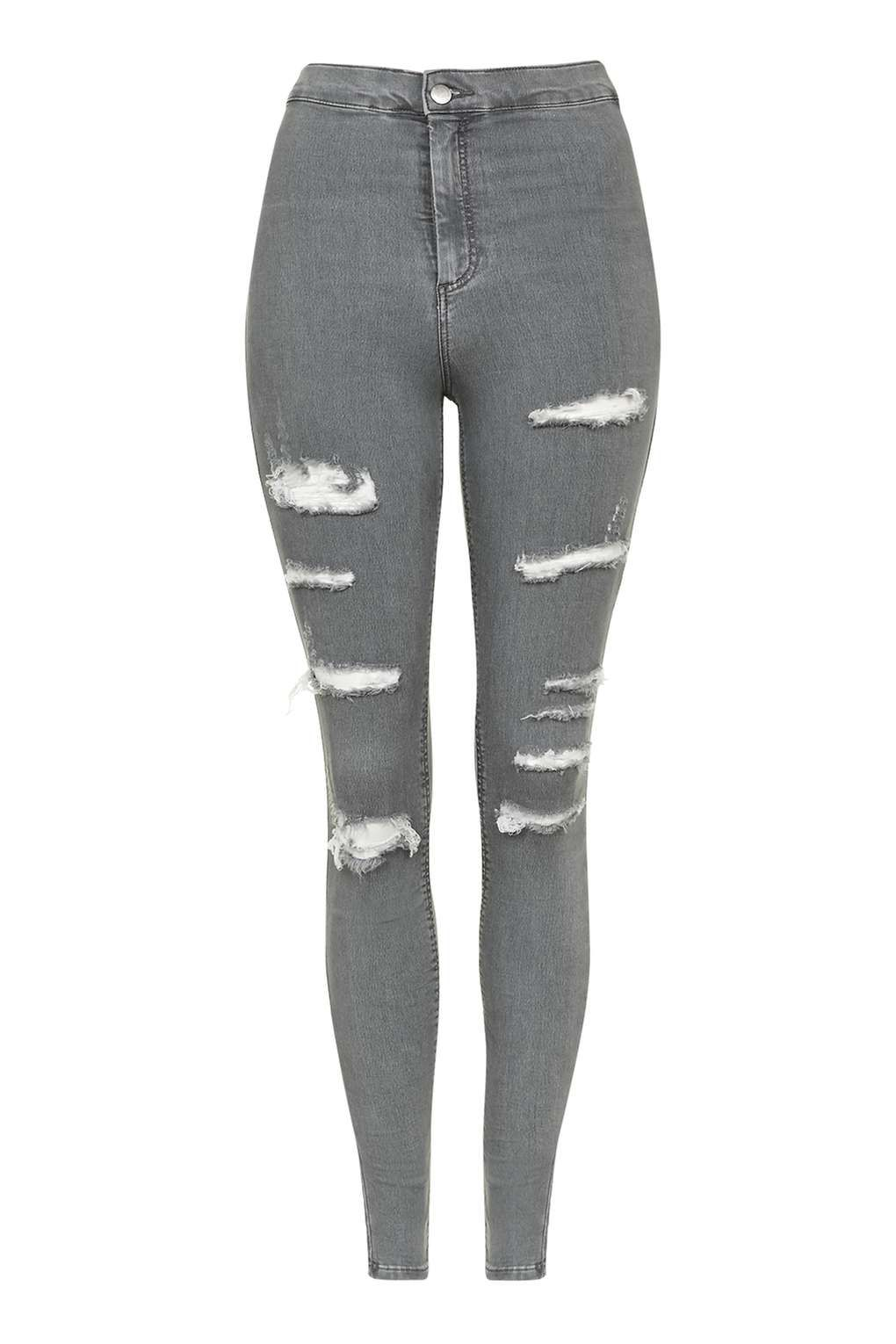 9dd8189323b Carousel Image 0 Grey Ripped Jeans, Joni Jeans, High Waisted Distressed  Jeans, Destroyed