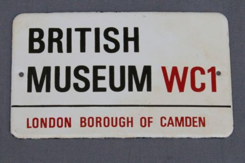 Miniature-London-Street-Sign-British-Museum-Porcelain-Enamel-Camden-Replica-Gift