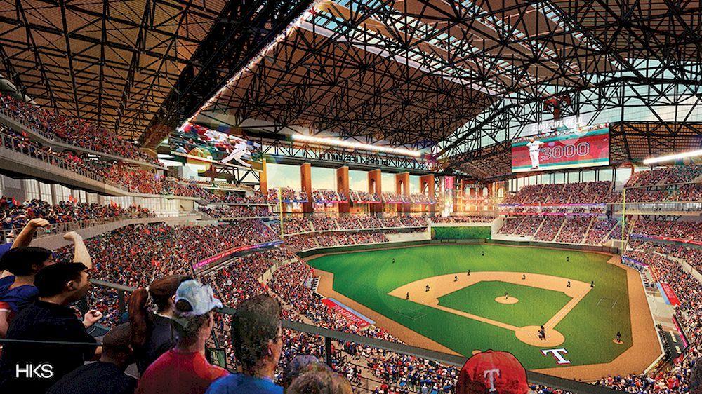 Hks Releases Renderings Of The New Texas Rangers Stadium Arch2o Com In 2020 Ranger Stadium Texas Rangers Texas Rangers Ballpark
