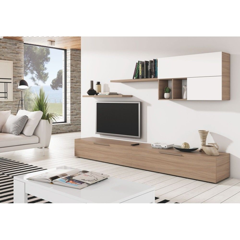 Zestaw Mebli Pod Tv Z Dekorem Drewna 13casa Argos Meuble Mobilier De Salon Amenagement Salon