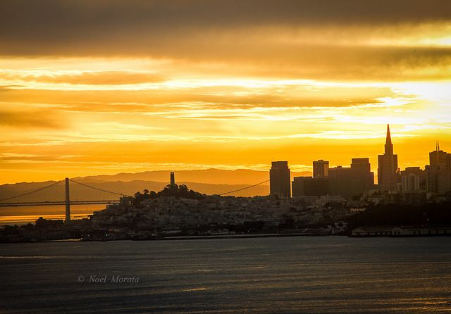 San Francisco sunrise landscape, California by Noel Morata, via Flickr