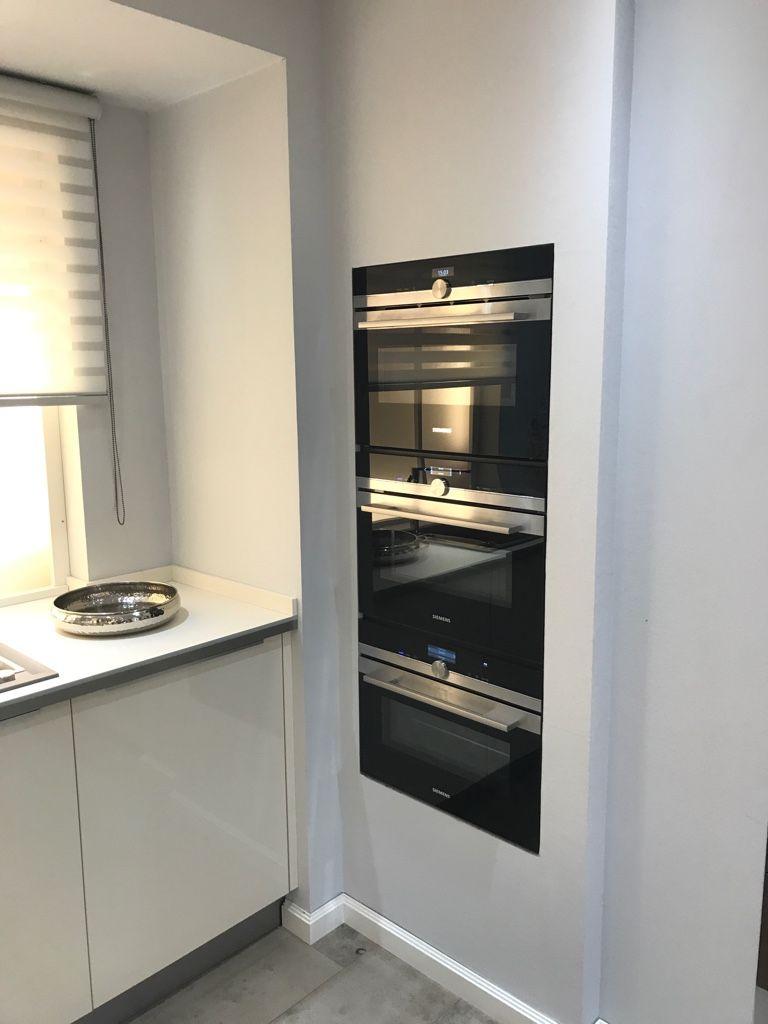 Siemens Einbaugeräte in einer Trockenbau Nische integriert. Küche ...