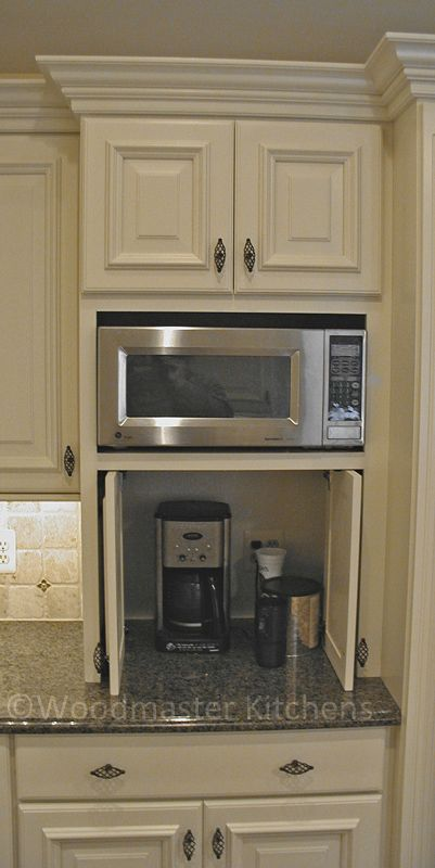 Hideaway Cabinet For Small Appliances Cabinet Details U0026 Specialty Cabinets    Eclectic   Kitchen Cabinets   Detroit   Woodmaster Kitchens