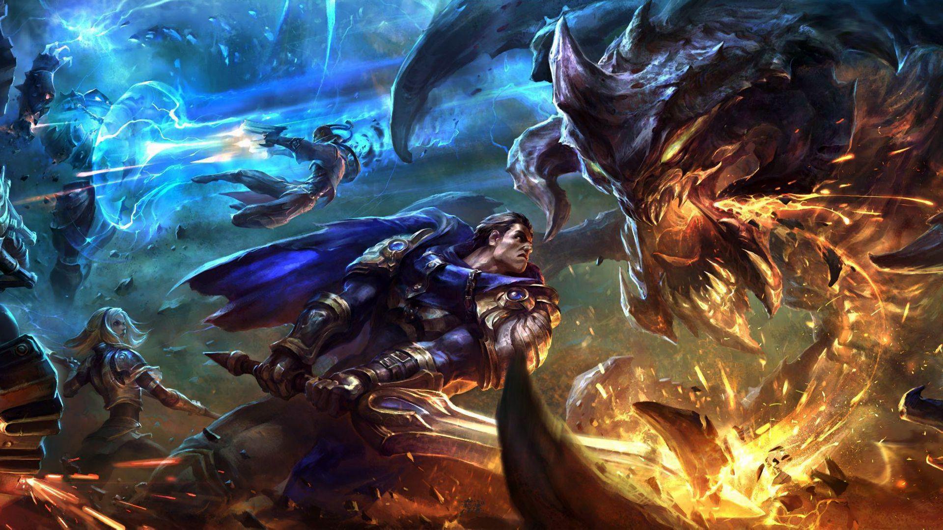 Baron Fight Jinx League Of Legends League Of Legends