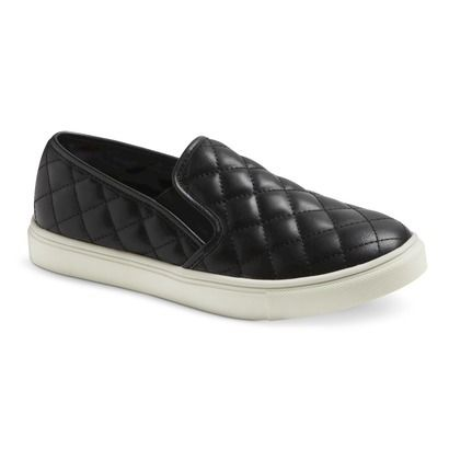 afcd63c495 Women s Mossimo Supply Co. Dedra Quilted Slip-on - Black- Anything quilted  reminds me of Chanel. Therefore