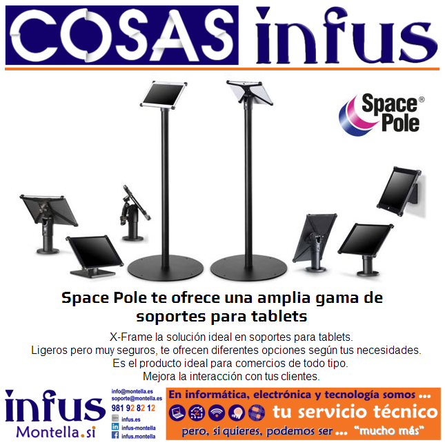 Space Pole: Soportes X-Frame