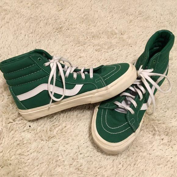 ffcbe75ad2 Green Hightop Vans Size 8.5 women s   only worn twice Vans Shoes Sneakers