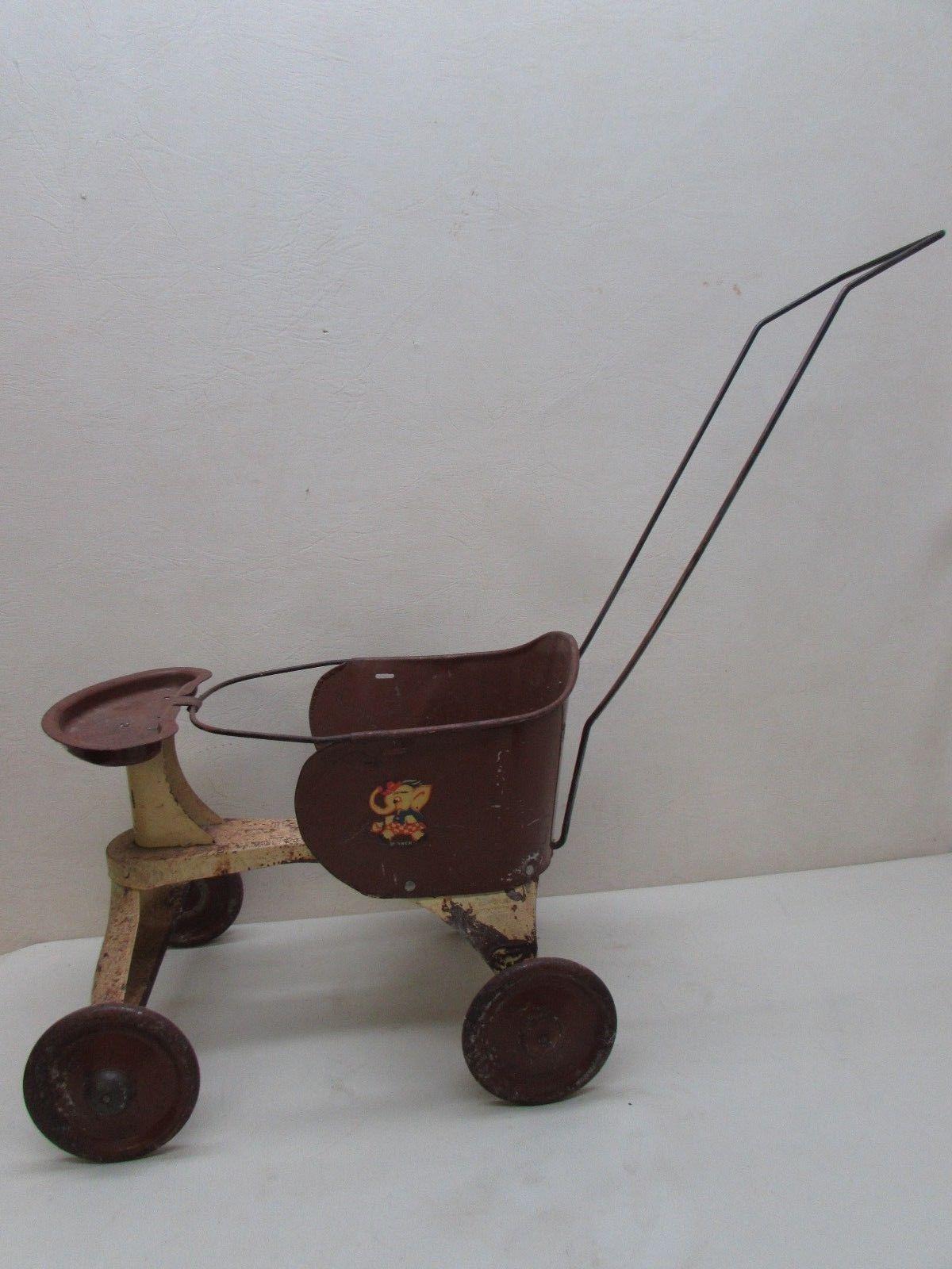 Vintage Ultra Rare Doll Stroller Walker Turner Toys