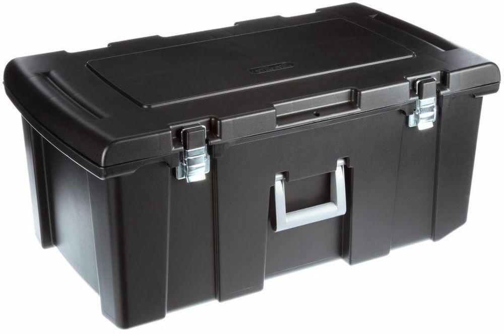 Gentil Sterilite Wheeled Storage Trunk Footlocker Container Chest And Travel  Organizer