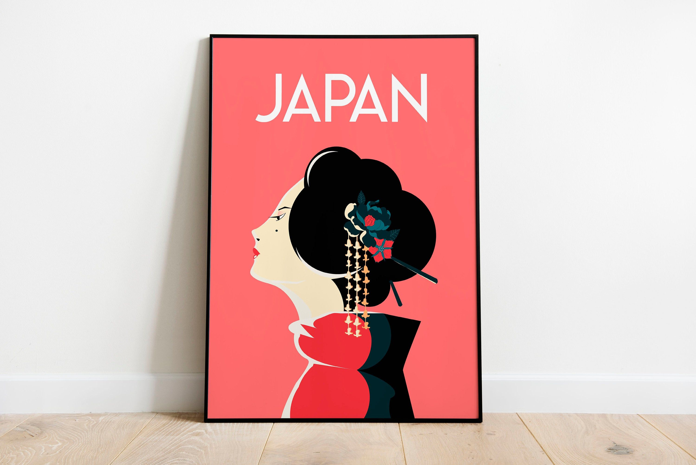 An Geisha Travel Poster