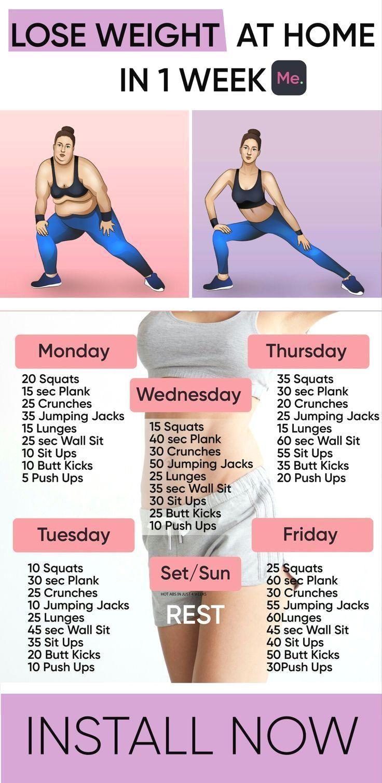 Nur Eine Woche Um Zu Hause Gewicht Zu Verlieren Health And Fitness Articles Body Workout Plan Fitness Articles