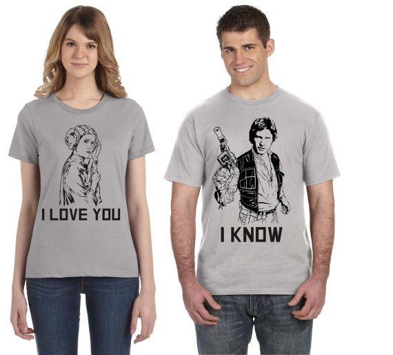 Download Star Wars Disney Couple Shirts! Han Solo Princess Leia - I ...