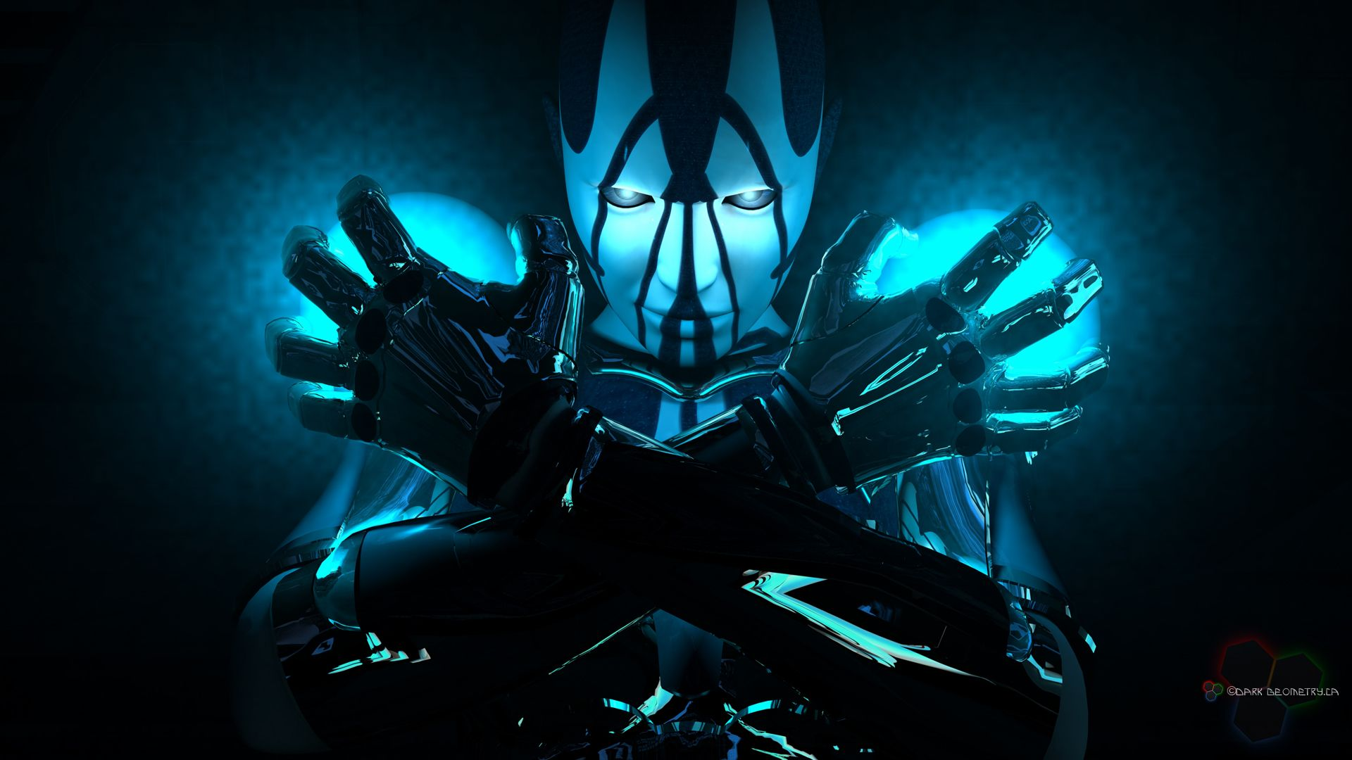 Fondo Pantalla Robot Blue Robot Wallpaper Sci Fi Wallpaper 3d Wallpaper Background
