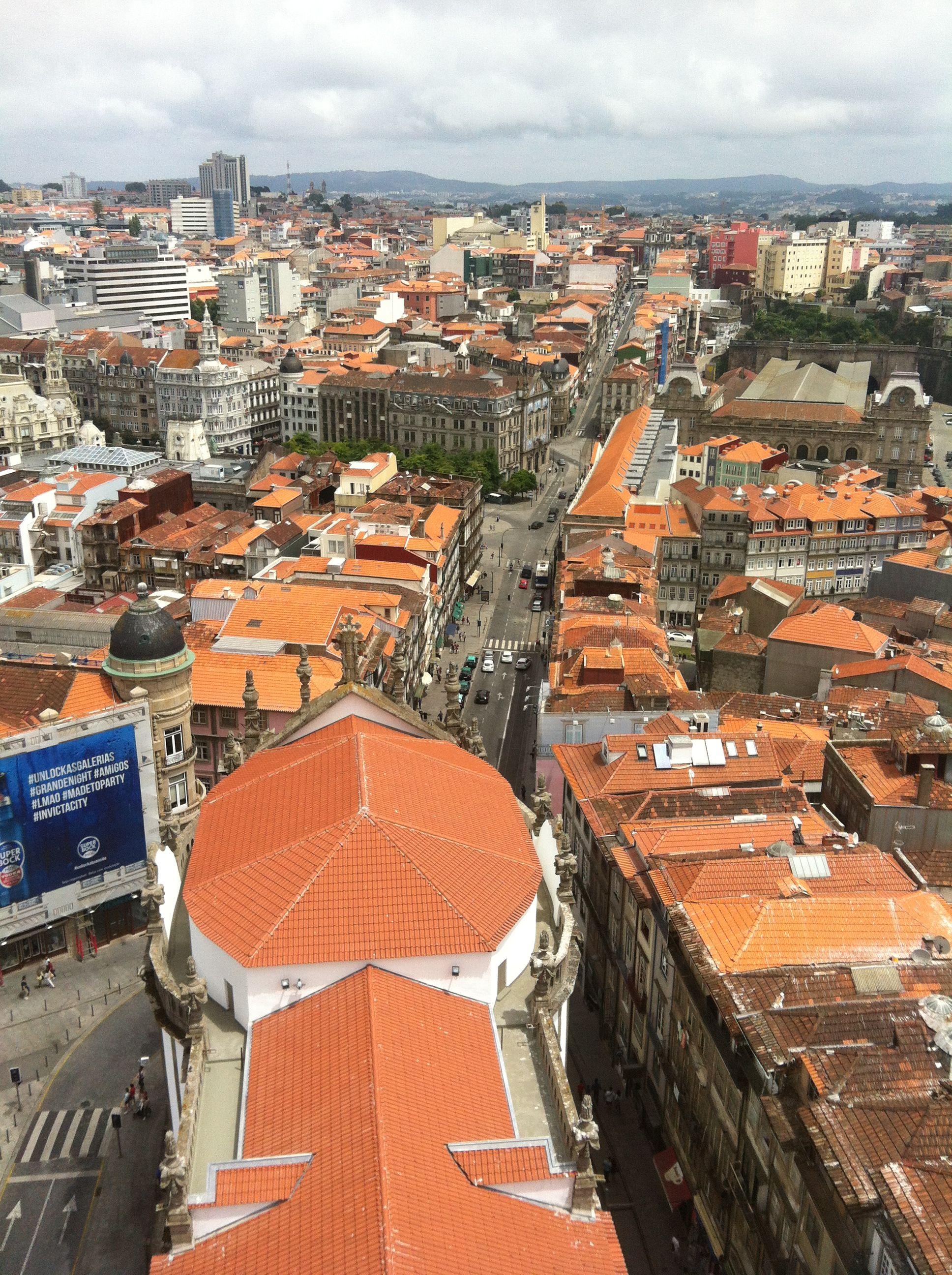 Vistas desde la Torre de los Clérigos, Porto