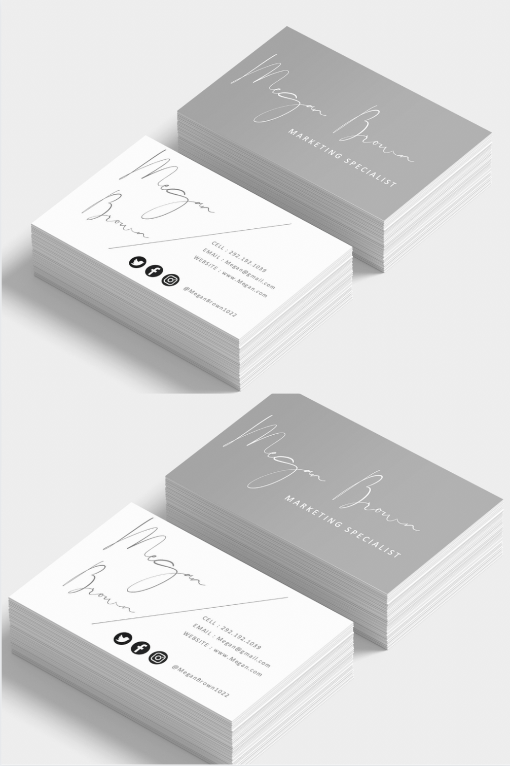 Printable Business Card Templates Editable Business Cards Personalized Calling Cards Gray Printable Business Cards Personal Cards Business Cards