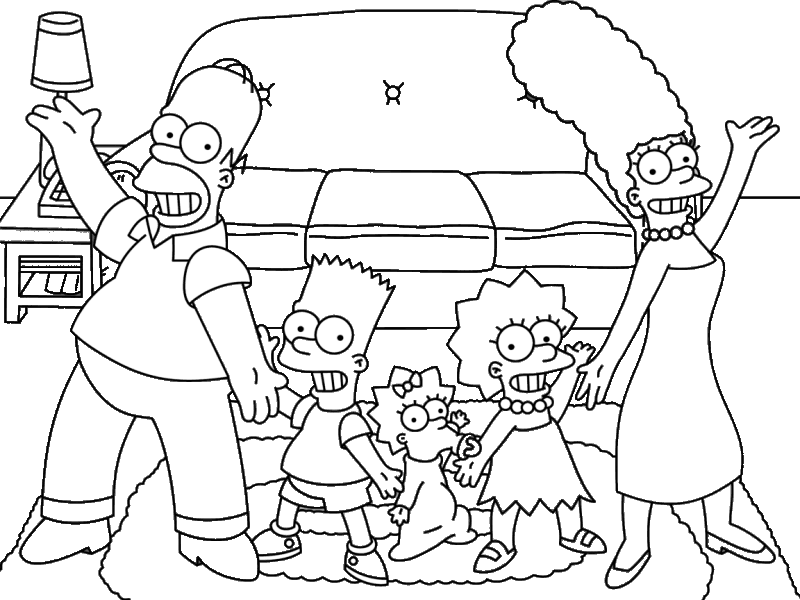 Coloring to print Famous characters The Simpsons