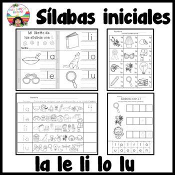 Letra L Silabas la, le, li, lo, lu   Fonema l   Pinterest   Li lo ...