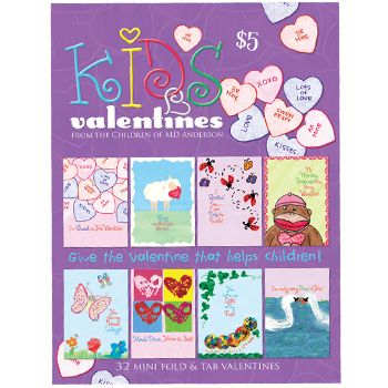 Our bestselling item for the Valentine Season is our Kid Valentine's. Perfect for school Valentine exchanges.     Kid's Valentine 2013  SKU: 100213  Price: $5.00  32 fold-over cards with tab closure, four each of eight designs with whimsical messages