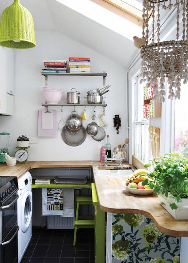 20 ideas para aprovechar mejor una cocina pequea - Decorar Cocinas Pequeas