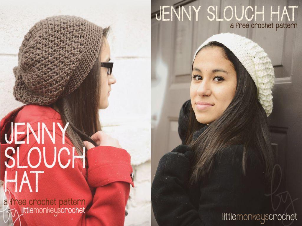The Jenny Slouch Hat (Free Crochet Pattern!) | Slouch hats, Slouchy ...