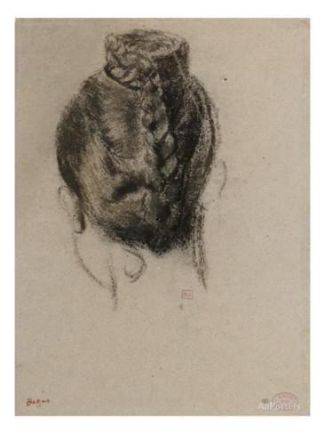 Etude de coiffure Impression giclée par Edgar Degas sur AllPosters.fr