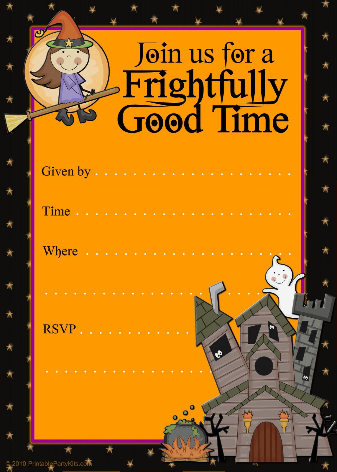 Free Halloween Flyer Invitations Printable  Free Printable Invitation Templates For Word