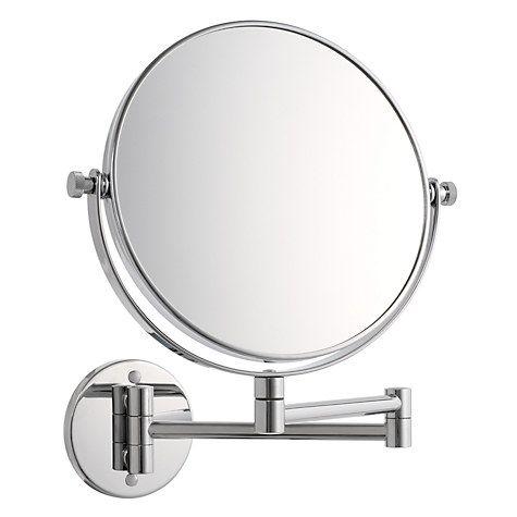 John Lewis Partners Chrome Extending Magnifying Mirror Magnifying Mirror Mirror Extendable Bathroom Mirrors