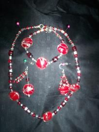 Handmade Necklace and Earring Set Free Shipping S18