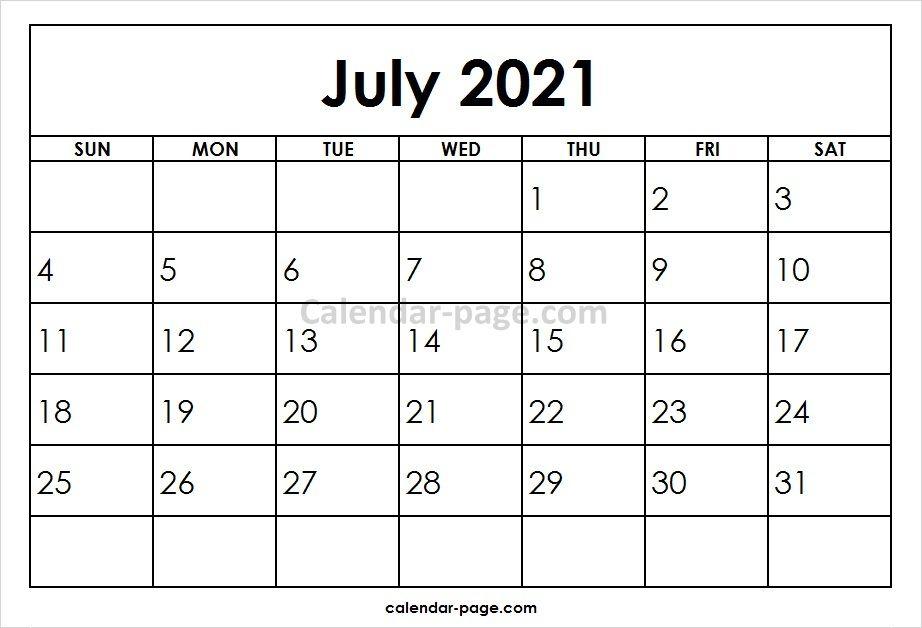 July 2021 Printable Calendar Template Calendar Template October